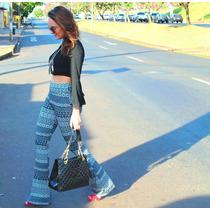 Calça Legging Fem Estampada Flare Super Na Moda Várias Cores