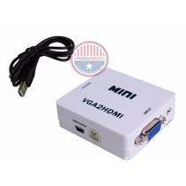 Convertidor Vga A Hdmi Con Audio 1080p Pc Laptop A Tv Monito