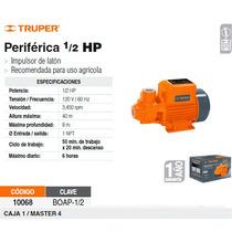Bomba Electrica Para Agua Periferica 1/2 Hp