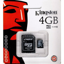 Micro Sd Kingston 4gb Clase 4 Nueva/blister/original
