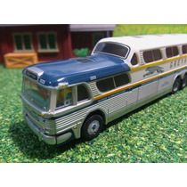 H5o Autos Escala 1/87 Autobus Mini Metals Gmc Greyhound N.y.