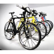 Bicicleta De Montaña Metal Opaco Escala 1/6-1/10 Nueva Roja