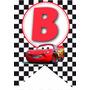 Banderin Cars Personalizado Listo Para Imprimir
