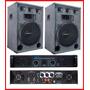 Dos Bafles De15 3 Vias + Amplificador Pm120 Combo Dancis