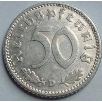 Tercer Reich - Alemania Nazi - 50 Reichspfennig 1.941 D