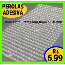 Cartela Com 540 Pedras De Meia Pérola Para Artesanato