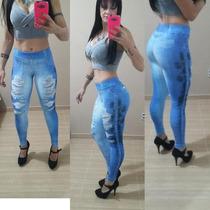 Calça Legging Jeans Feminino Sublimada Fotos Originais.