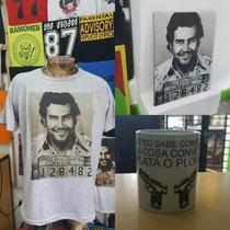 Combo Remera Cuadro Y Taza Pablo Escobar El Patron Del Mal