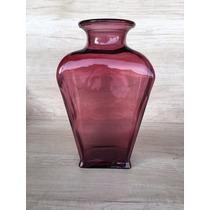 Vaso/floreiro Decorativo Roxo Em Vidro Cerâmico Importado