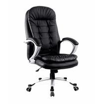 Cadeira Boss Escritório Office Couro Ecológico Preto Confort
