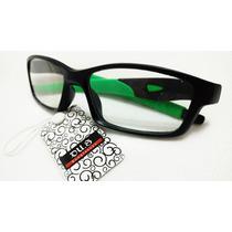 Armacao Oculos Esportivo De Grau Masculino Acetato Flexivel