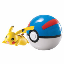 Pokemon Mini Pikachu E Super Bola Da Tomy * Pronta Entrega *