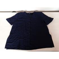 Blusa Azul Fina Hermosa Caida Xl