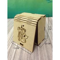 Caixa De Mdf Cru Maleável Noivos Kit Com 10 Unidades