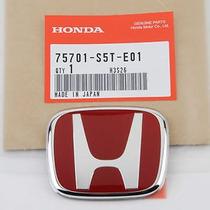 Emblema New Civic Type R Vermelho Honda Fit Logotipo Genuíno