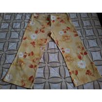 Pantalon Capri Estampado Para Dama Talla L