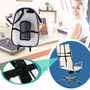 Respaldar Cojin Lumbar Con Bolas Antiestres + Arco Regulador