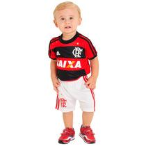 Kit Baby Adidas Original Uniforme Flamengo Infantil 1magnus