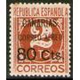 España = Islas Canarias Sello Aéreo Mint Resellado Años 1936