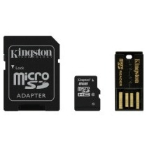 Kingston Multi Lector G2 Clase 10 Kit Microsd 8gb Con 3 Adap