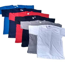 Kit 10 Camisetas Lisas Sem Estampa 100% Algodão Gola Redonda