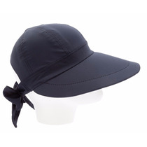 Boné Chapéu Viseira Aba Grande C/ Laço Tecido Várias Cores