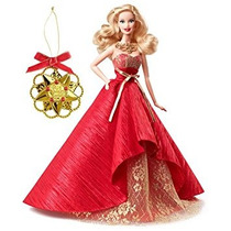 Juguete Barbie De Vacaciones 2014 De La Muñeca Con El Ornam