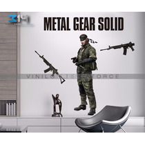 Vinilo Decorativo Metal Gear 01 Snake, Sticker Gigante