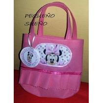 Bolsitas Cumpleaños Personajes Tela Mickey Minnie Mouse Beb