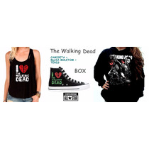 Box The Walking Dead Feminino Kit Tênis + Moletom + Camiseta
