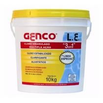 Cloro Granulado Multipla Ação 3 Em 1 Clarificante 10kg Genco