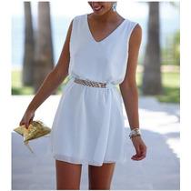 Vestido Importado De Mujer -verano-cuello Bote-talle Grandes