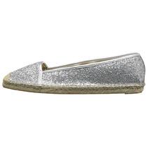 Zapato Mujer Nine West Bigapple Plata Yute Sint Envío Gratis