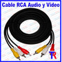 Cable Rca Audio Y Video 5 Mts Para Dvd Tv Decodificador