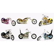 Miniatura Moto Chopper C/ 6 Modelos Diferentes