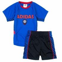Conjunto Adidas Futbol Niños Camiseta Short Talle 6 Años