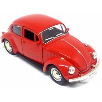 Carrinho Fusca - Beetle Vermelho - Miniatura 1/32 - Ferro
