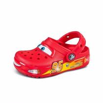 Sandalia Tipo Sueco Crocs Con Luz Cars