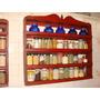 Repisa Vintage Mermeladas-legumbres.44 Frascos 110x100x15 Cm