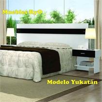 Respaldo De Sommiers Con Mesitas De Luz Modelo:yukatan -ryo