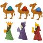 Navidad Botones Figura Reyes Para Decorar Toallas, Bufanda