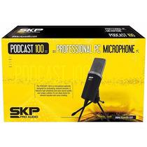 Microfone Condensador Skp P/ Estúdio Podcast 100 - Ac0871