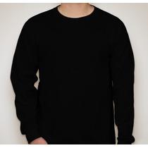 Camiseta Manga Longa - Lisa Sem Estampa -100% Algodão