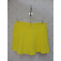 Saia Shorts Amarelo- Tecido - Rodada Babado - Shorts Saia