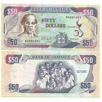 2 Billetes Jamaica 50 Y 100 Dolares Año 2012 Conmemorativos