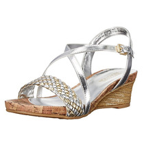 Sandalias Fashion Dorada/ Plateada Kenneth Cole Talla 36