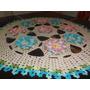 Tapete De Mesa Em Crochê De Flores, 93x93 (leia A Descrição)