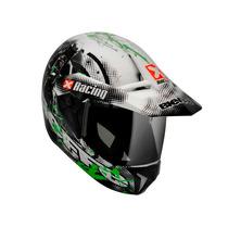 Capacete Bieffe 3 Sport Xracing Branco/verde Lançamento