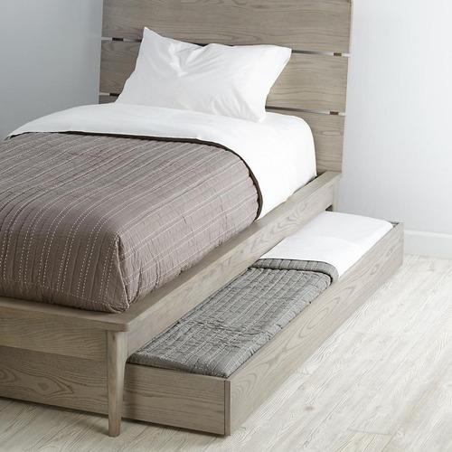 Base cama doble caj n bajo madera individual madera viva for Camas con cajones debajo