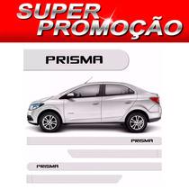 Friso Lateral Chevrolet Prisma 2013 A 2016 Branco Summit *